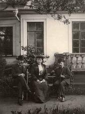 Ilya Ostroukhov, Anna Botkina and Valentin Serov. 1900s