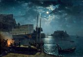Moonlit Night in Naples. 1828