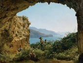Grotta di Matrimonio on the Isle of Capri. 1827