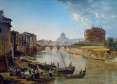 New Rome. View of the Castel Sant'Angelo. 1824