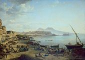 Naples. On the Banks of the Riviera di Chiaia. 1826