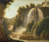 Waterfall in Tivoli. Early 1820s