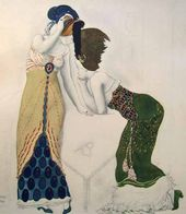 Léon BAKST. A fantasy on modern costume. 1912