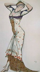 "Léon BAKST. Sketch of a costume ""Aglaia"". 1913"