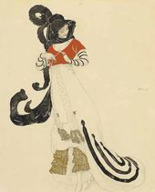 Léon BAKST. Woman's Dress Designed for a fancy-dress ball. c 1914