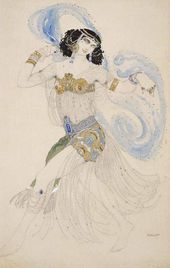 Léon BAKST. Salome. Sketch of the costume for Ida Rubinstein. 1908