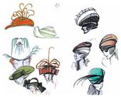 Léon BAKST. Hat designs (sheet from an album) [mid-1910s]