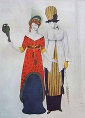 Léon BAKST. A fantasy on modern costume. 1910