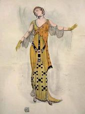 Léon BAKST. A fantasy on modern costume. Dioné. 1912
