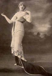 Opera singer Germaine Bailac in a costume designed by Léon Bakst. Photo. 1913