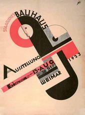 Йост ШМИДТ. Афиша выставки «Баухауса» в Веймаре. 1923