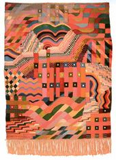 Gunta STÖLZL. Slit Tapestry Red-Green. 1927–1928