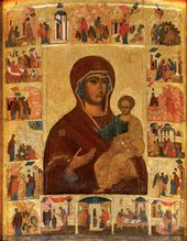 "The Miracle-working Icon ""The Virgin Hodegetria of Ustuzhna"". Late 15th – early 16th centuries"