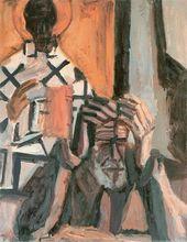 Self-Portrait with St. Nicholas. 1990