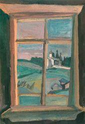 Window. View on the Monastery. Ferapontovo. 1998