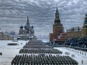 Konstantin YUON. Parade on Red Square. November 7 1941. 1949