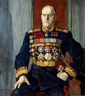 Pavel KORIN. Portrait of Georgy Zhukov. 1945