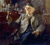 Portrait of Academician Nikolai Zelinsky. 1947