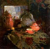 Still-life with a Mirror (Tea Set). 1944