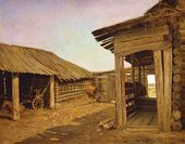 Courtyard of a Peasant's Home. Late 1860s