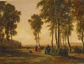 Promenading in the Forest. 1869