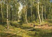 A Brook in a Birch Forest. 1883