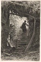 A Peasant Woman Coming Downstairs. 1875