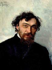 Ilya REPIN. Portrait of Ivan Pokhitonov. 1882