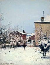 Trou-Louette. Winter. View from the Artist's Apartment. 1895