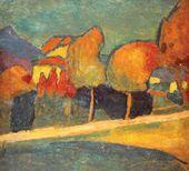Alexei von JAWLENSKY. Landscape. Murnau. 1907