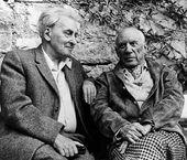Pablo Picasso and Ilya Ehrenbourg. Mougins. 1966