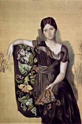 Portrait of Olga in an Armchair. 1918