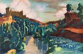 Alexandra OSTROUMOVA-LEBEDEVA. Segovia. View of the Alcázar. 1915