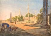 Karl RABUS. View of Constantinople. Early 1830s