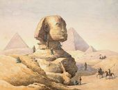 Grigory CHERNETSOV. Sphynx. At the Foot of the Pyramids in Giza, near Cairo. 1842