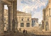 LEBEDEV (Initials unknown). View of the Capitol in Rome. 1850s