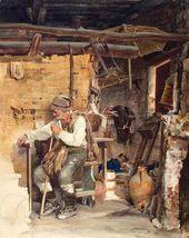 Karlis HUNS (Karl GUN) French Peasant. 1870