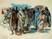 Zinaida SEREBRYAKOVA. Bazaar in Marocco. 1928