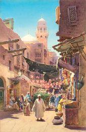 Alexander RUSSOV. Street in Cairo. Noon. 1896