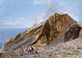 Jean Pierre HOÜEL (Rouen, 1735-1813). The Crater of Stromboli