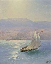 The Crimea. A Seaside View of Alupka. 1890