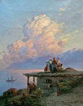 Marine View off the Turkish Coast at Sunset. 1898