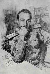 Ilya REPIN. Portrait of Alexander Zhirkevich. 1891