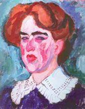 Ilya MASHKOV. A Woman's Portrait. Head. (Kirkaldi?). 1910