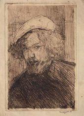 Nikolai CHERNYSHEV. Self-portrait. 1907