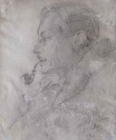 Arkady RYLOV. Portait of Mikhail Ivanovich Kurilko. 1921