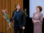 Sergei Bezrukov, People's Artist of Russia and Elena Bekhtieva, leading the ceremony