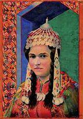 Byashim NURALI. Portrait of a Russian Girl. 1928