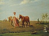 Alexei VENETSIANOV. On a Tillage. Springtime. First half of the 1820s