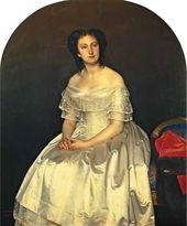 Sergei ZARYANKO. Portrait of Princess Maria Vorontsova. 1851